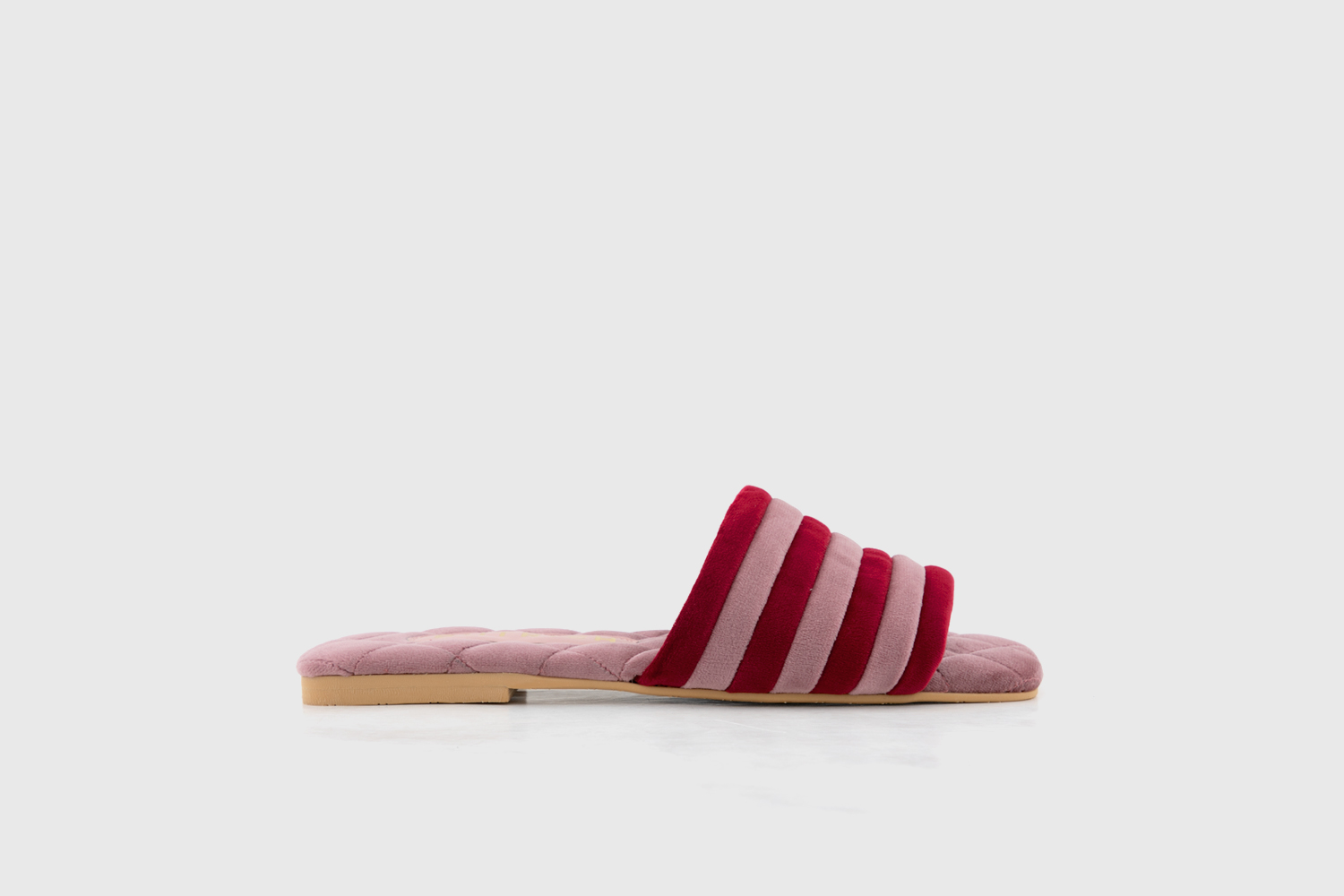 slipper rojo rosa